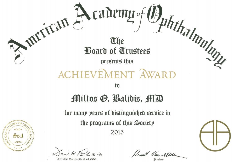 AAO award Balidis