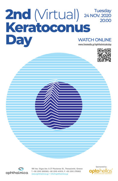 2nd (Virtual) Ophthalmica Keratoconus Day, Τρίτη 24 Νοεμβρίου 2020